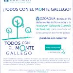 LABORATORIOS OZOAQUA DONARÁ EL 5% DEL IMPORTE DE SUS VENTAS DE NOVIEMBRE PARA LA REFORESTACIÓN DEL MONTE GALLEGO AFECTADO POR LOS INCENDIOS